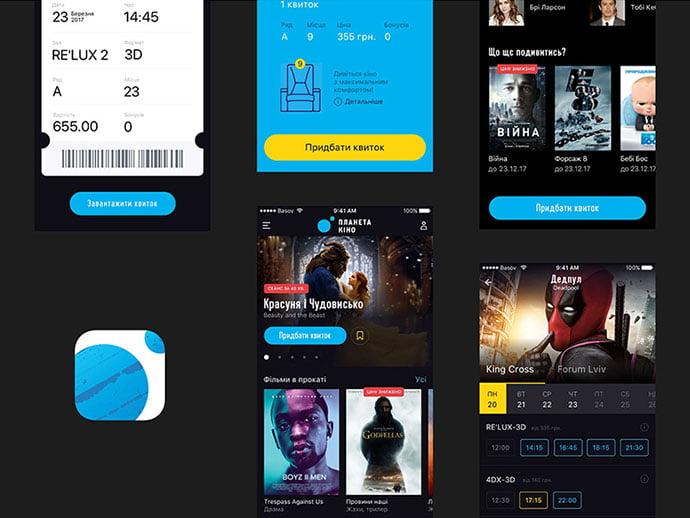 Planeta-Kino.-Cinema-App - 63+ Amazing Film & TV App UI Design Sample [year]