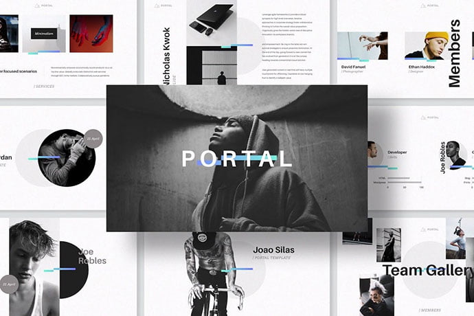 Portal - 36+ Attractive Typography Keynote Templates [year]