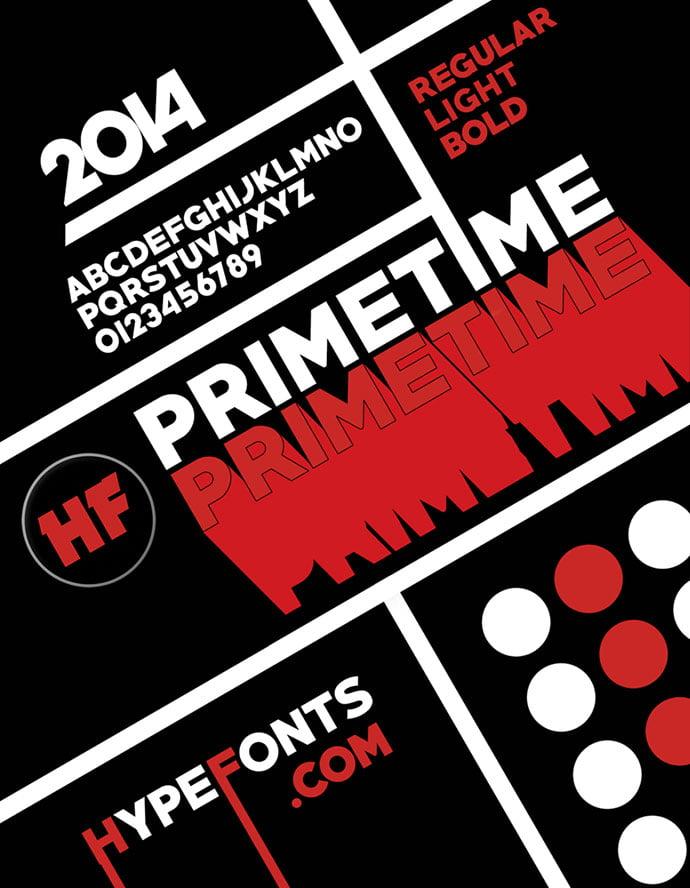 Primetime - 36+ Free Quality Sans-Serif Designer Fonts [year]