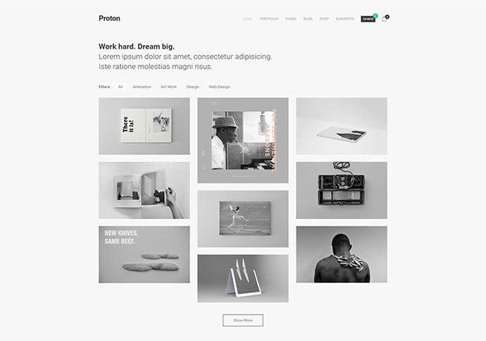 Proton - 41+ Awesome Logo Designer WordPress Themes [year]
