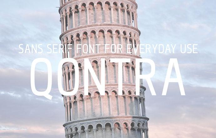 Qontra - 36+ Free Quality Sans-Serif Designer Fonts [year]
