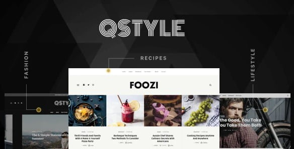 Qstyle - 33+ WordPress Themes To Make Your Blog Attractive [year]