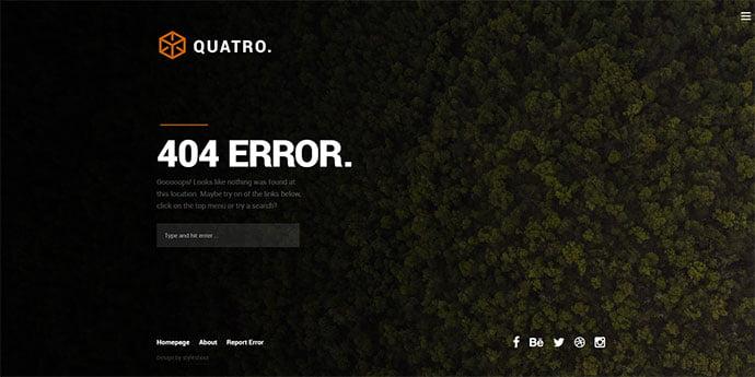 Quatro - 65+ Amazing Free CSS HTML5 Website Design Templates [year]