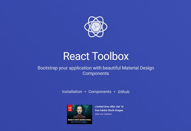 React-Toolbox - 61+ Free React UI Component Libraries [year]