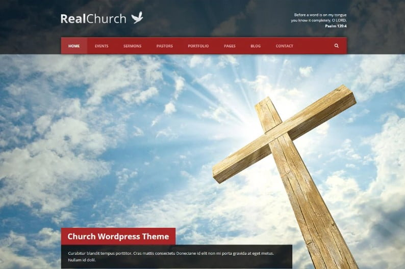 Real-Church - 31+ Inspiring Modern Church WordPress Themes [year]