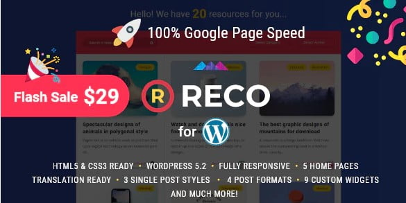 Reco - 36+ Inspiring Best Coaching WordPress Themes [year]