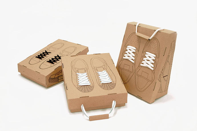 Recycling-Shoe-Box - 38+ Awesome Free Packaging Designs that Automatically Sell [year]