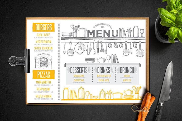 Restaurant-Menu-Template - 36+ Stunning Hand Drawn Restaurant Menu Design PSD Templates [year]