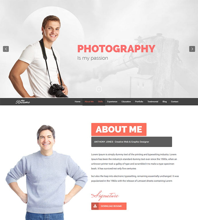ResumeX - 34+ Marvelous WordPress Resume Themes [year]