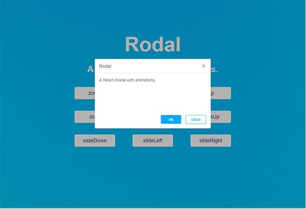 Rodal - 61+ Free React UI Component Libraries [year]