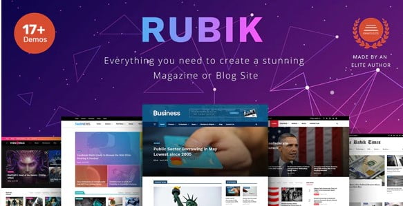 Rubik - 33+ WordPress Themes To Make Your Blog Attractive [year]