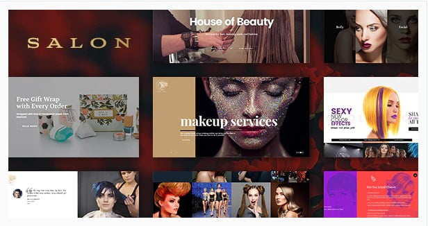 SALON - 31+ Best Hairdresser & Portfolio WordPress Themes [year]