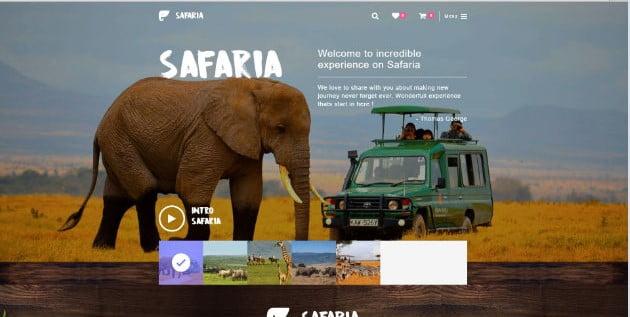 Safaria - 36+ Nice Tour & Travel Business WordPress Themes [year]