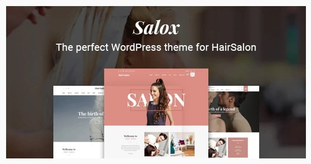 Salox - 31+ Best Hairdresser & Portfolio WordPress Themes [year]