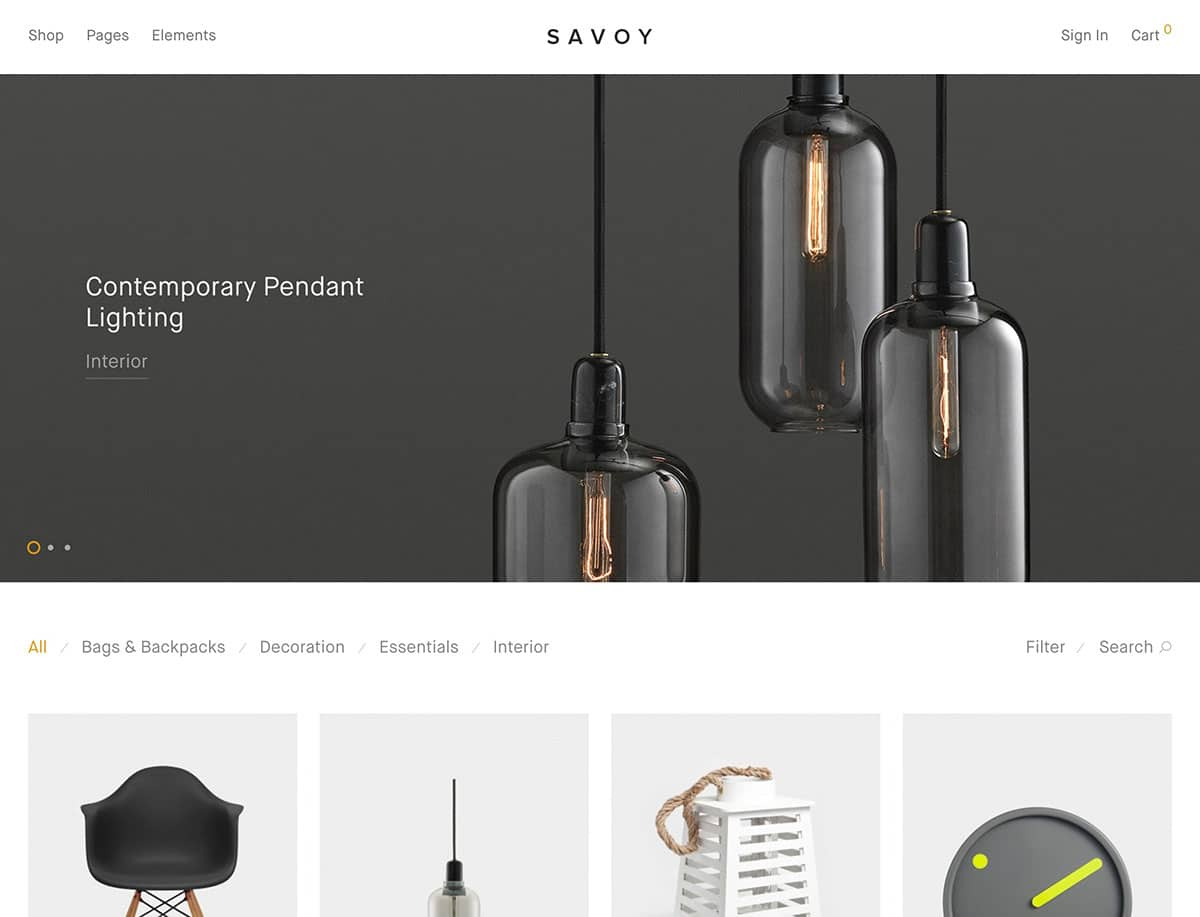 Savoy-1 - 41+ Top Best WordPress Themes For Woocommerce [year]