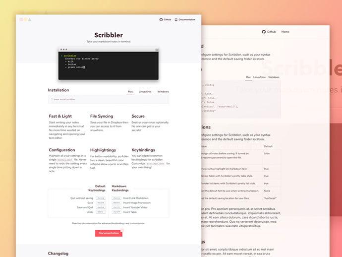 Scribbler - 65+ Amazing Free CSS HTML5 Website Design Templates [year]