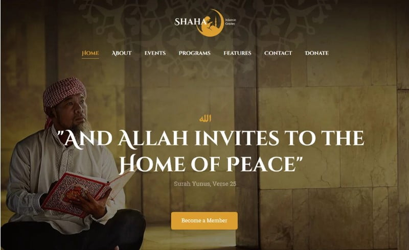 Shaha - 31+ Inspiring Modern Church WordPress Themes [year]