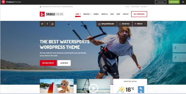 Shaka - 36+ Nice Tour & Travel Business WordPress Themes [year]