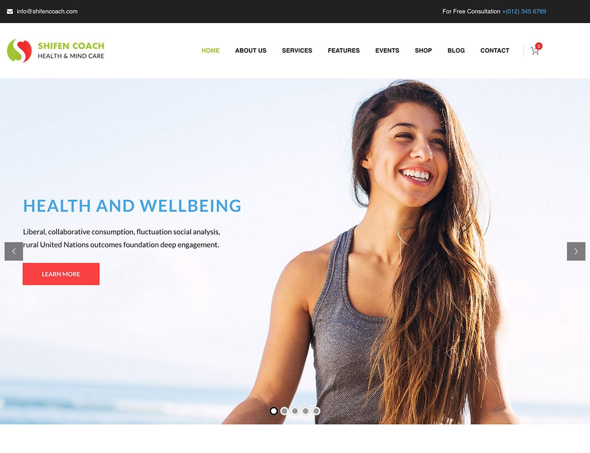Shifen-Coach - 36+ Inspiring Best Coaching WordPress Themes [year]