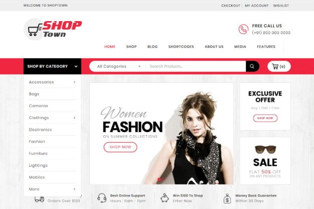 Shop-Town - 31+ Top Amazon Style WordPress Themes [year]