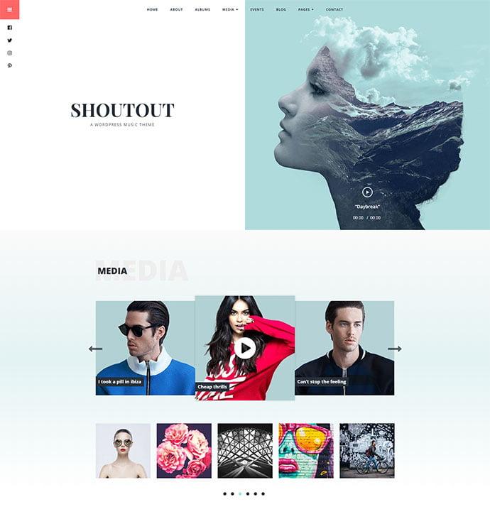 ShoutOut - 31+ Best Online Music Selling WordPress Themes [year]