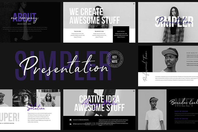 Simpler-Presentation - 36+ Attractive Typography Keynote Templates [year]