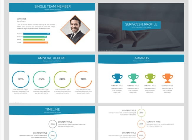 Simply-Business - 41+ Top Free Nice Apple Keynote Templates For You [year]