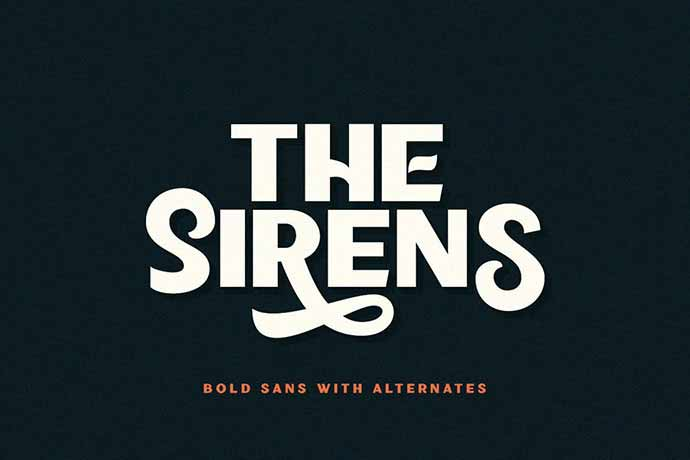 Sirens - 56+ Awesome Free Movie Poster Title Extra Bold Fonts [year]