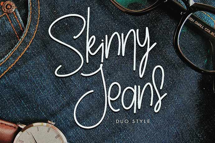 Skinny-Jeans - 41+ Important Logo Design Fonts For Graphic Designer [year]