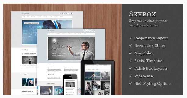 Skybox - 36+ Amazing Tumblr Style WordPress Themes For Developer [year]