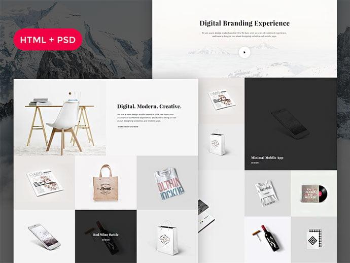 Snow - 65+ Amazing Free CSS HTML5 Website Design Templates [year]