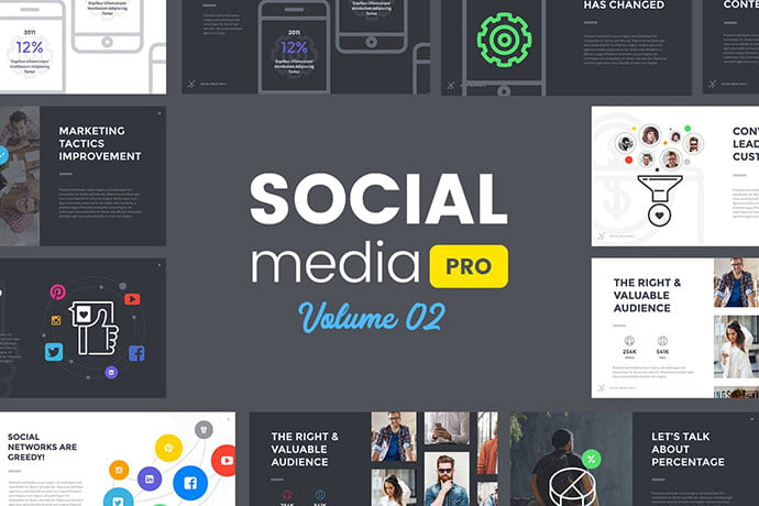 Social-Media-Pro - 36+ Attractive Typography Keynote Templates [year]