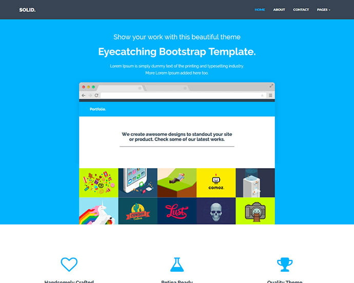 Solid - 65+ Amazing Free CSS HTML5 Website Design Templates [year]