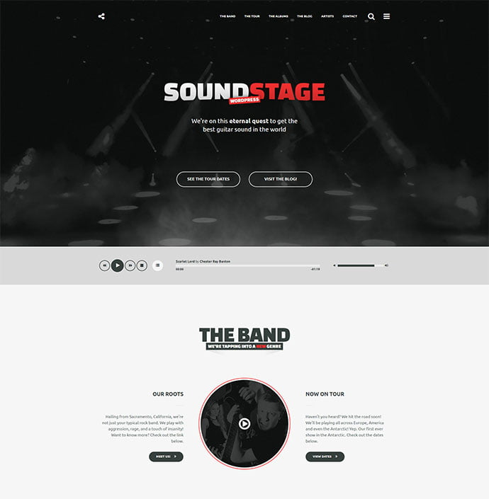 Sound-Stage - 31+ Best Online Music Selling WordPress Themes [year]