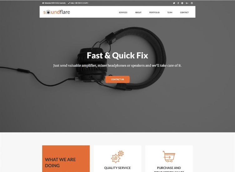 SoundFlare - 41+ Stunning Responsive Music Website Templates [year]