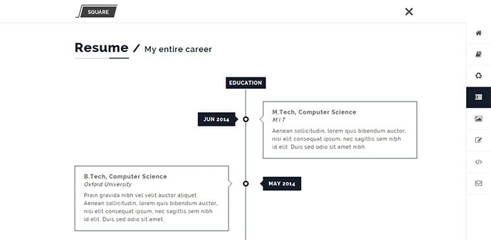 Squareroot - 34+ Marvelous WordPress Resume Themes [year]