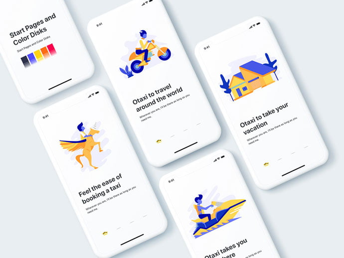 Start-Page-Illustration - 51+ Best Free Onboarding UI Mobile App Sample [year]