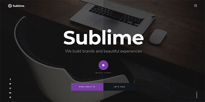 Sublime - 65+ Amazing Free CSS HTML5 Website Design Templates [year]