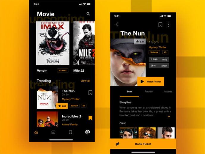 Sulton-hand - 63+ Amazing Film & TV App UI Design Sample [year]
