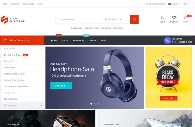 Sumi - 31+ Top Amazon Style WordPress Themes [year]