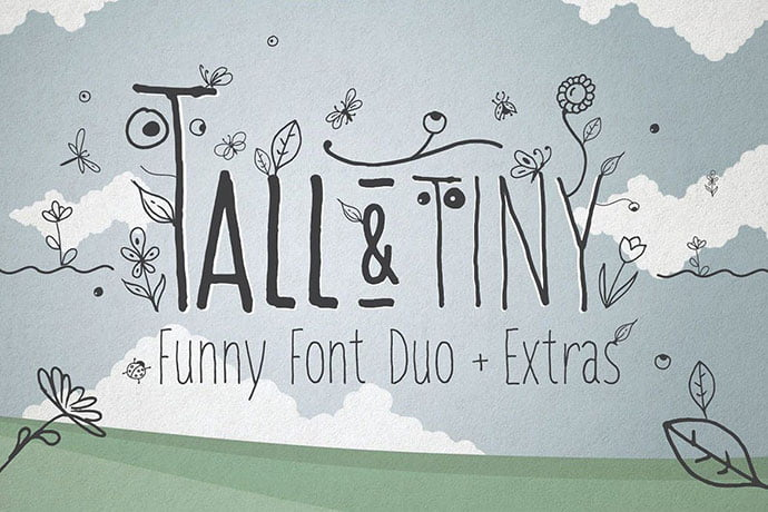Tall-Tiny-Font-Duo - 32+ Honestly Impressive Distorted Fonts [year]