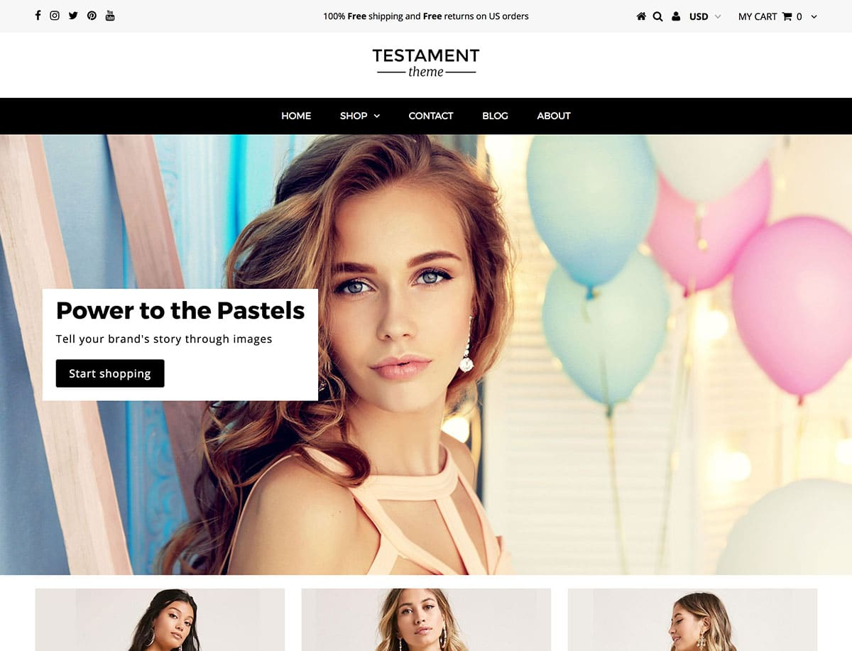 Testament - 41+ Awesome Shopify Themes For Your Business [year]