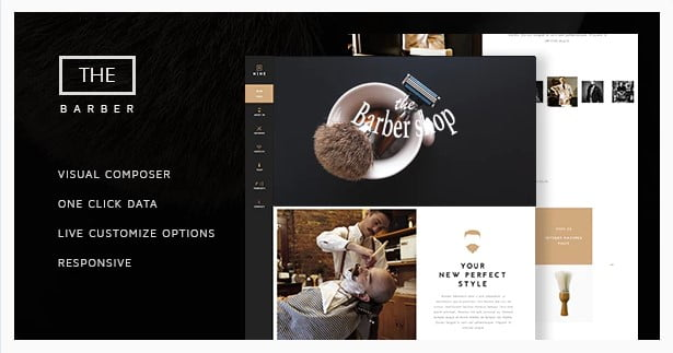The-Barber-Shop - 31+ Best Hairdresser & Portfolio WordPress Themes [year]