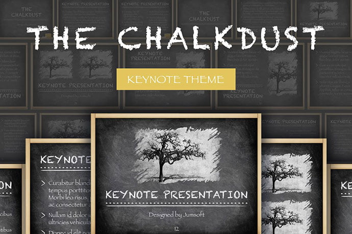 The-Chalkdust-Keynote-Template - 36+ Attractive Typography Keynote Templates [year]