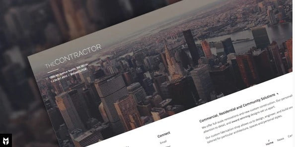The-Contractor - 37+ Top WordPress Themes For Construction Company [year]
