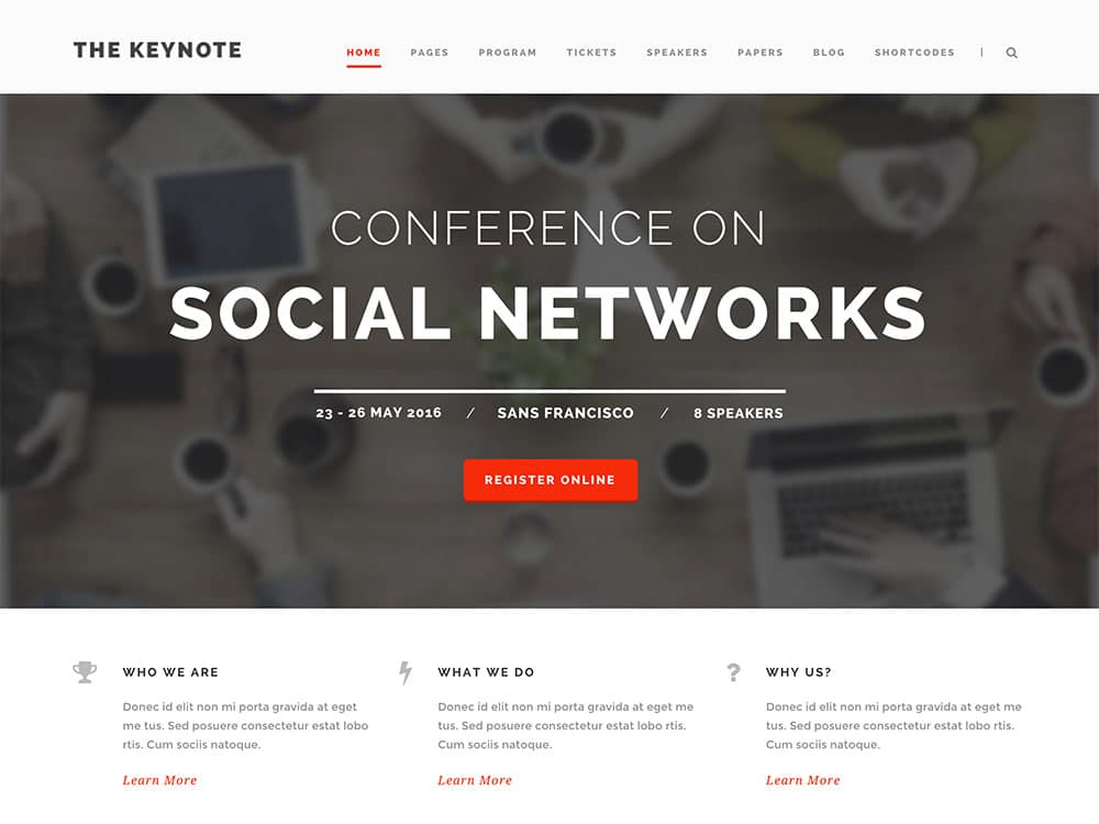 The-Keynote - 41+ Top Awesome WordPress Themes For Events [year]