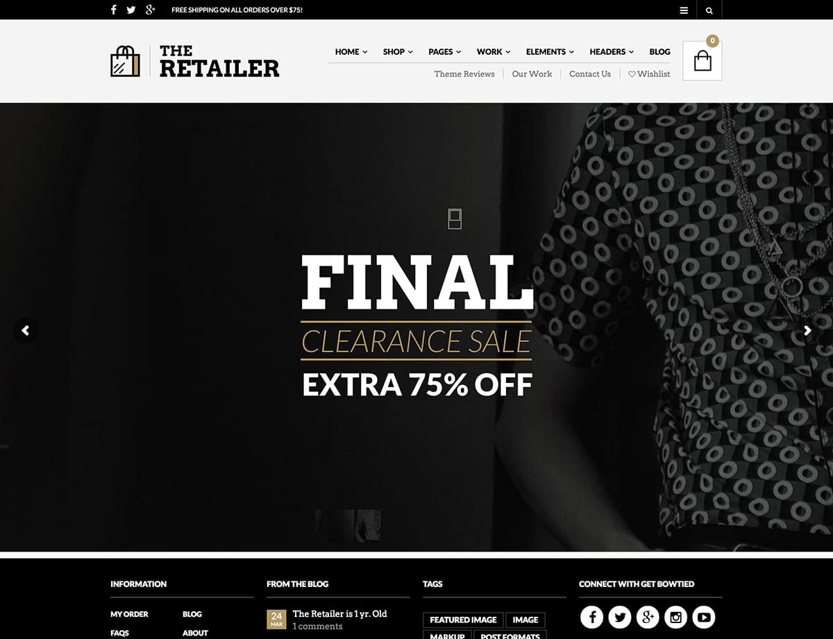 The-Retailer - 46+ Top Best WordPress Themes For Ecommerce [year]