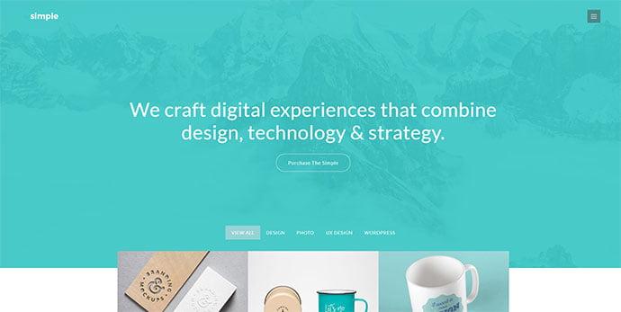 The-Simple - 36+ Wonderful Gradients Designs WordPress Theme [year]