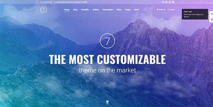 The7 - 36+ Wonderful Gradients Designs WordPress Theme [year]