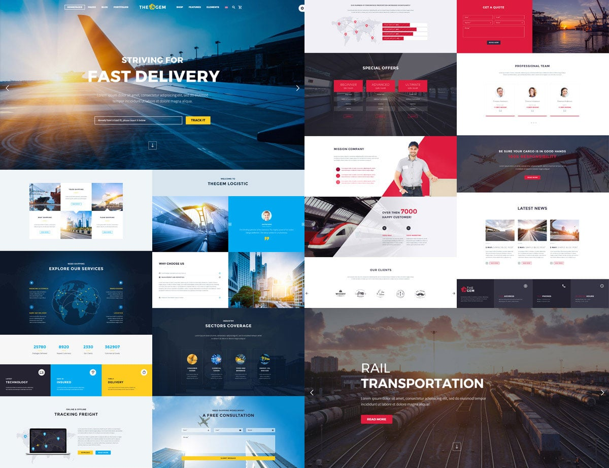 TheGem-6 - 36+ Stunning WordPress Themes For Transportation [year]